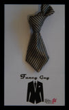 Silver Grey Knotted Tie Lapel Pin - Fancy Guy by Retro Lil