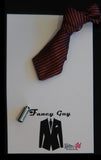 Burgundy Knotted Tie Lapel Pin - Fancy Guy by Retro Lil