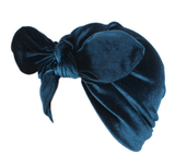 Velvet Turban Peacock Blue