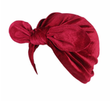Velvet Turban Wine Red