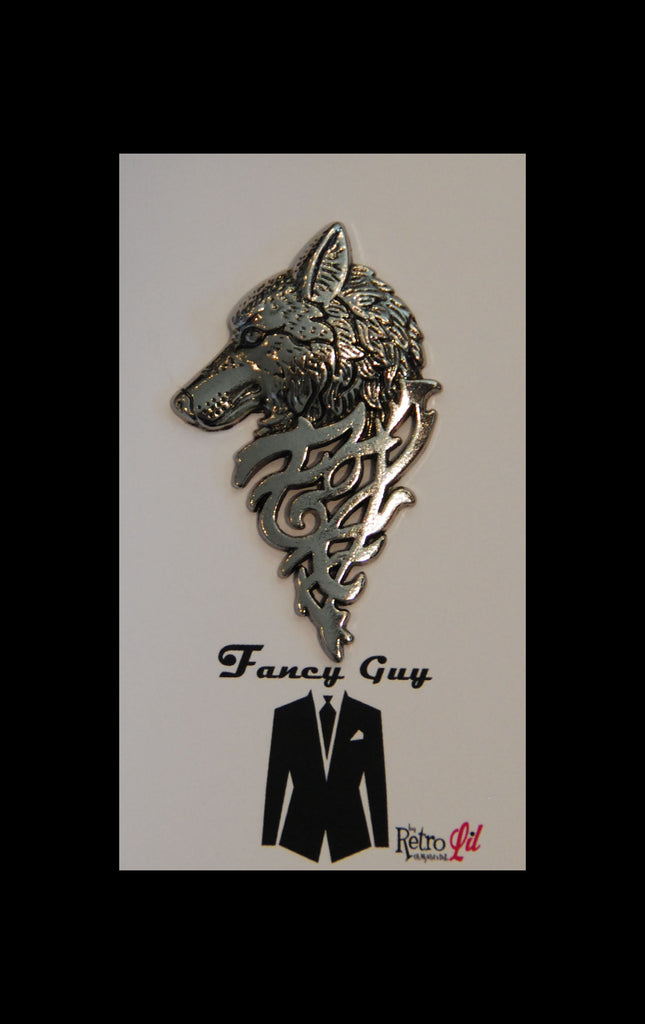 Wilfred Wolf Silver Lapel Pin