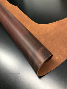 Leather Hides & Fur Pelts - wholesale-leather   SPC - osm-leather-usa Vegetable Tanned Sides (Half Hide) Cowhide Belevi 4-5 Oz. (1.6 to 2.0 mm) - BORDEAUX - genuine-leather