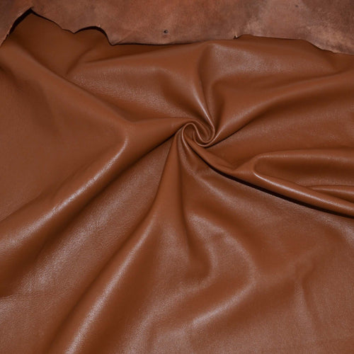 - wholesale-leather   OSM Leather USA - osm-leather-usa Roza Economic Lambskin Napa Leather for Lining, Garments (TOASTED BROWN - COGNAC) - genuine-leather