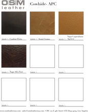 - wholesale-leather   OSM Leather USA - osm-leather-usa Hard Copy Cow Hide Catalog - genuine-leather