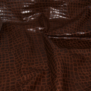 - wholesale-leather   osmleatherusa - osm-leather-usa Embossed Crocodile Lambskin Milk Brown PB138 - genuine-leather