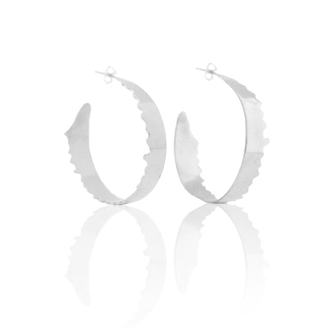 All Torn Up Hoops SILVER