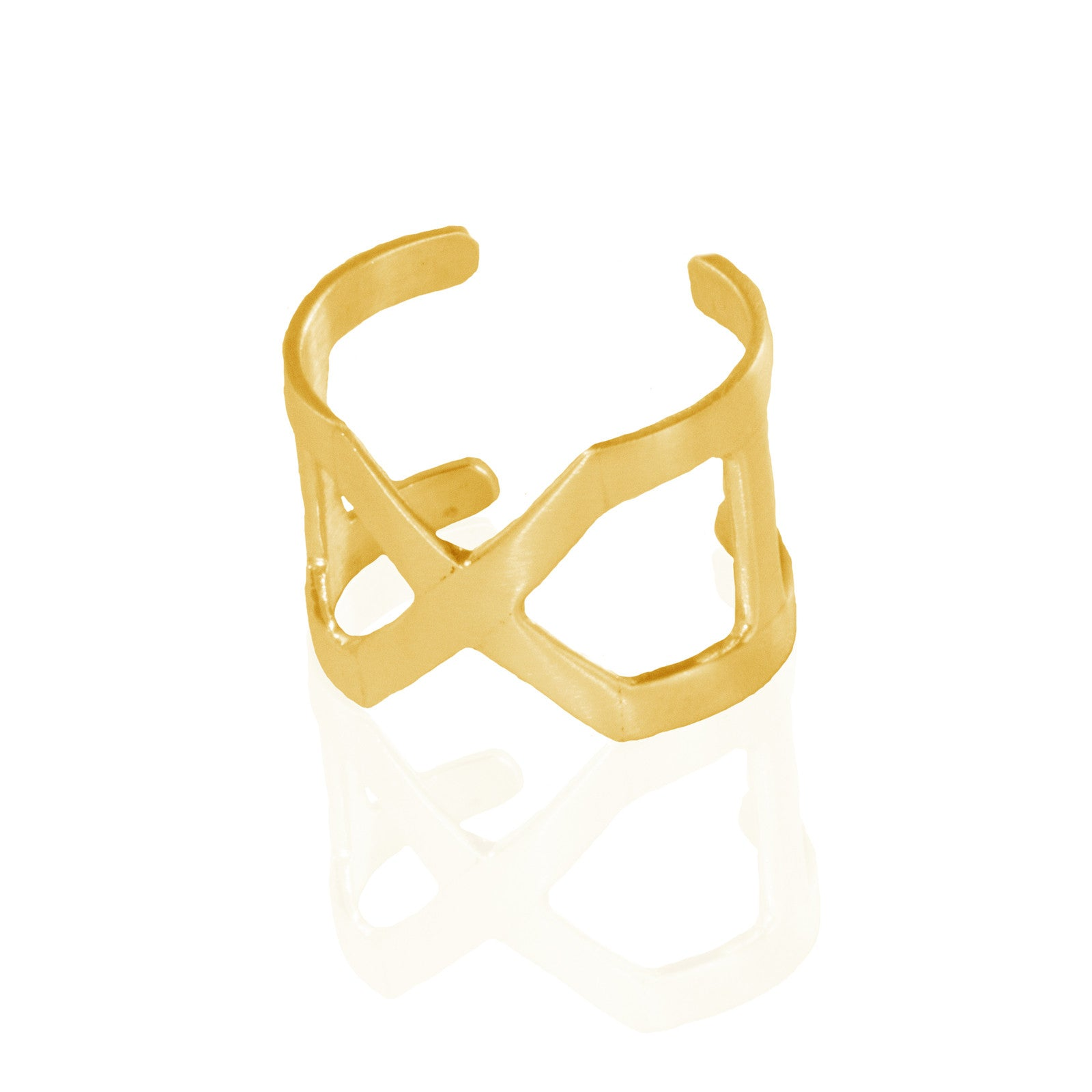 Cross Me Ring BRASS