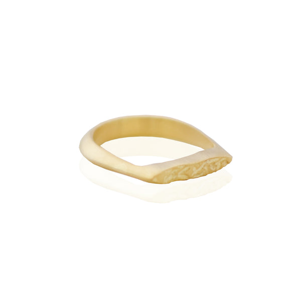 Half Crush Ring GOLD