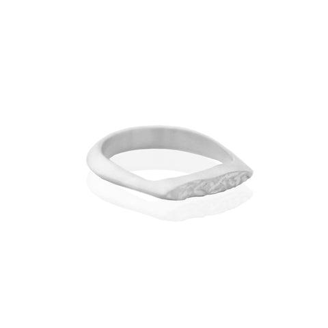 Half Crush Ring SILVER