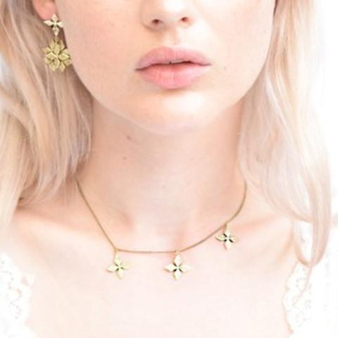 Triple Cross Choker BRASS