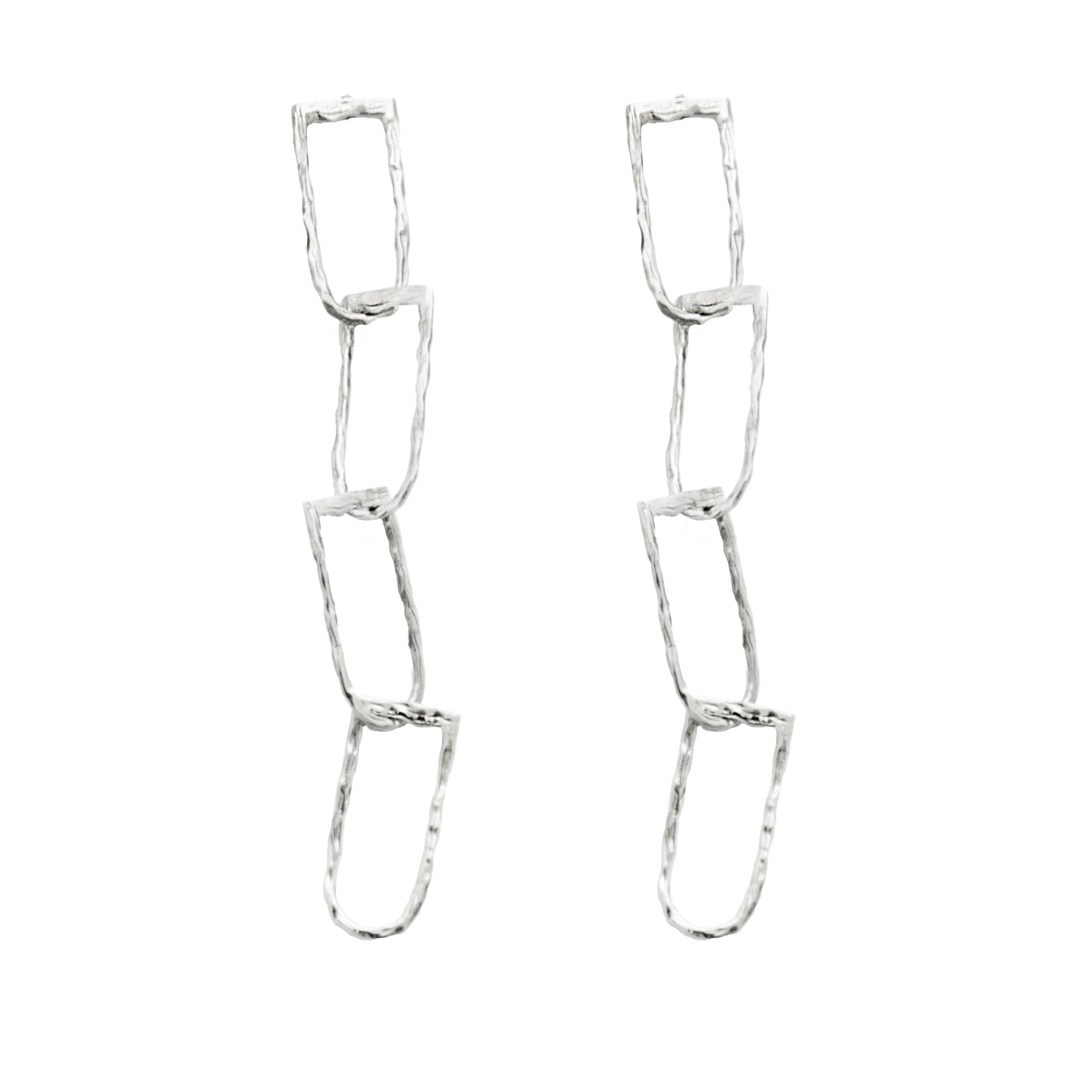Deadly Link Earrings SILVER