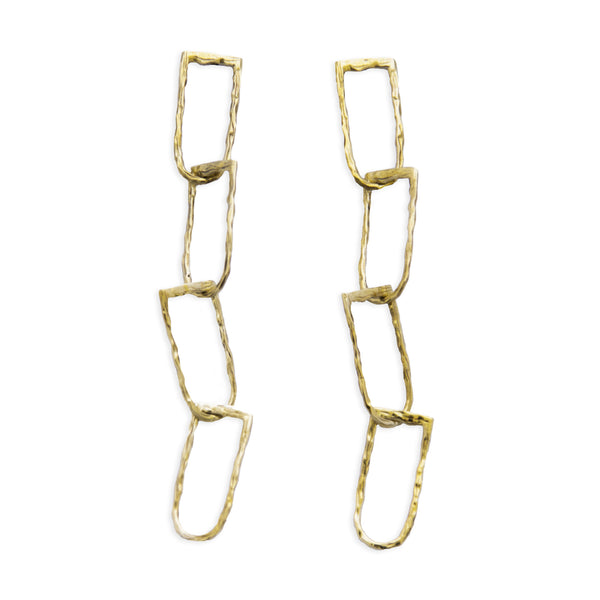 Deadly Link Earrings BRASS