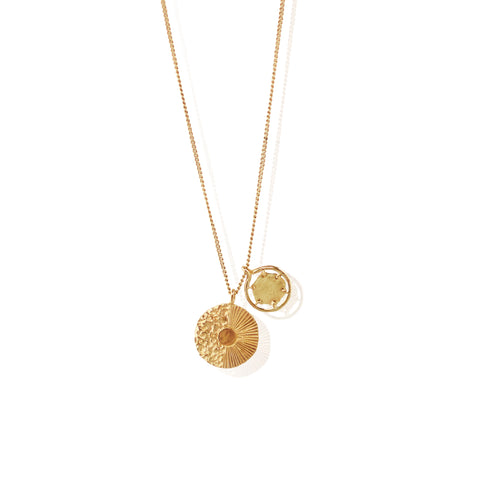 Double Crush Pendant GOLD