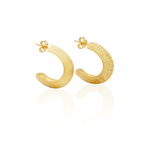 Crushed Half Hoops GOLD