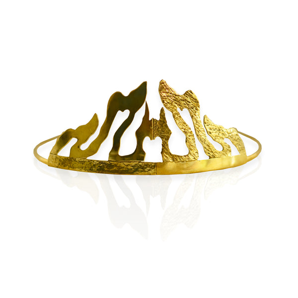 Crushed Heart Tiara BRASS