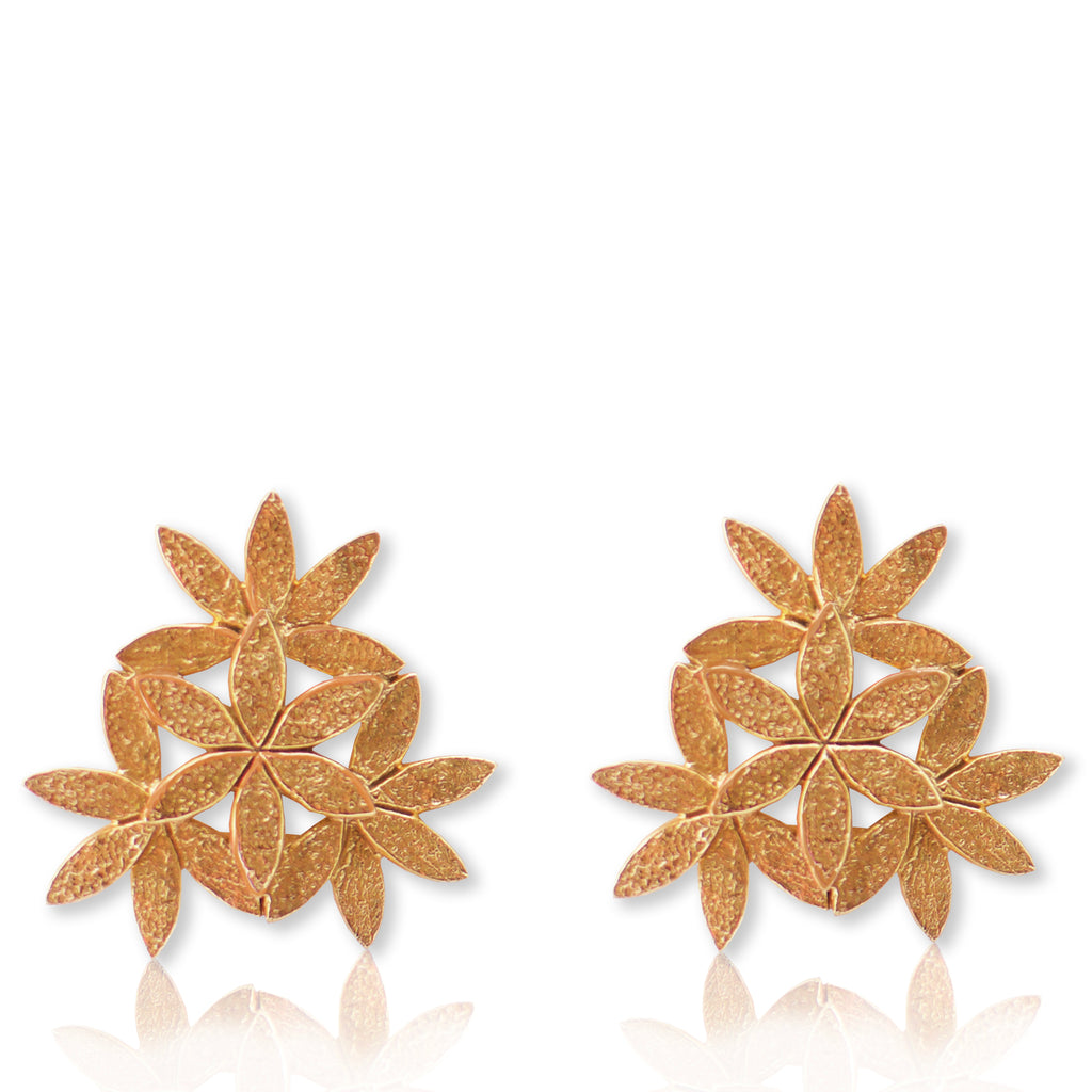 Floral Adorn Earrings GOLD