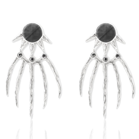 Dark Claw Earrings SILVER