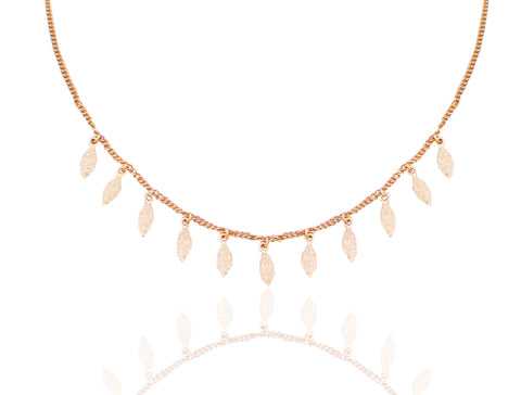 Floral Adorn Necklace GOLD