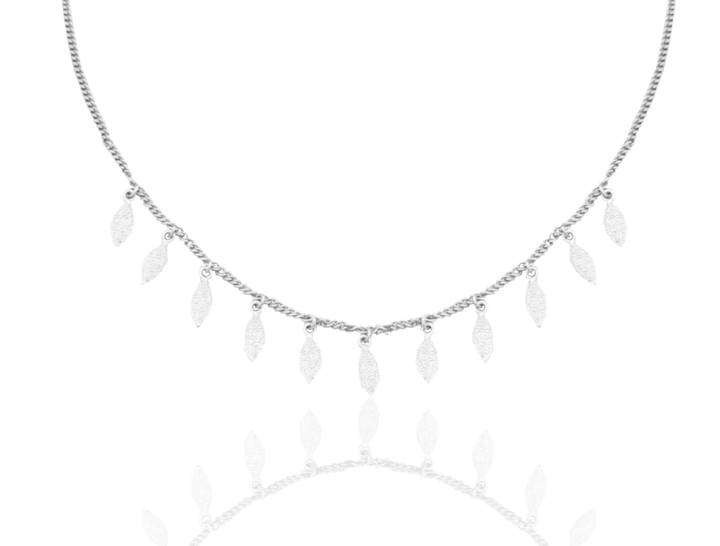 Floral Adorn Necklace SILVER