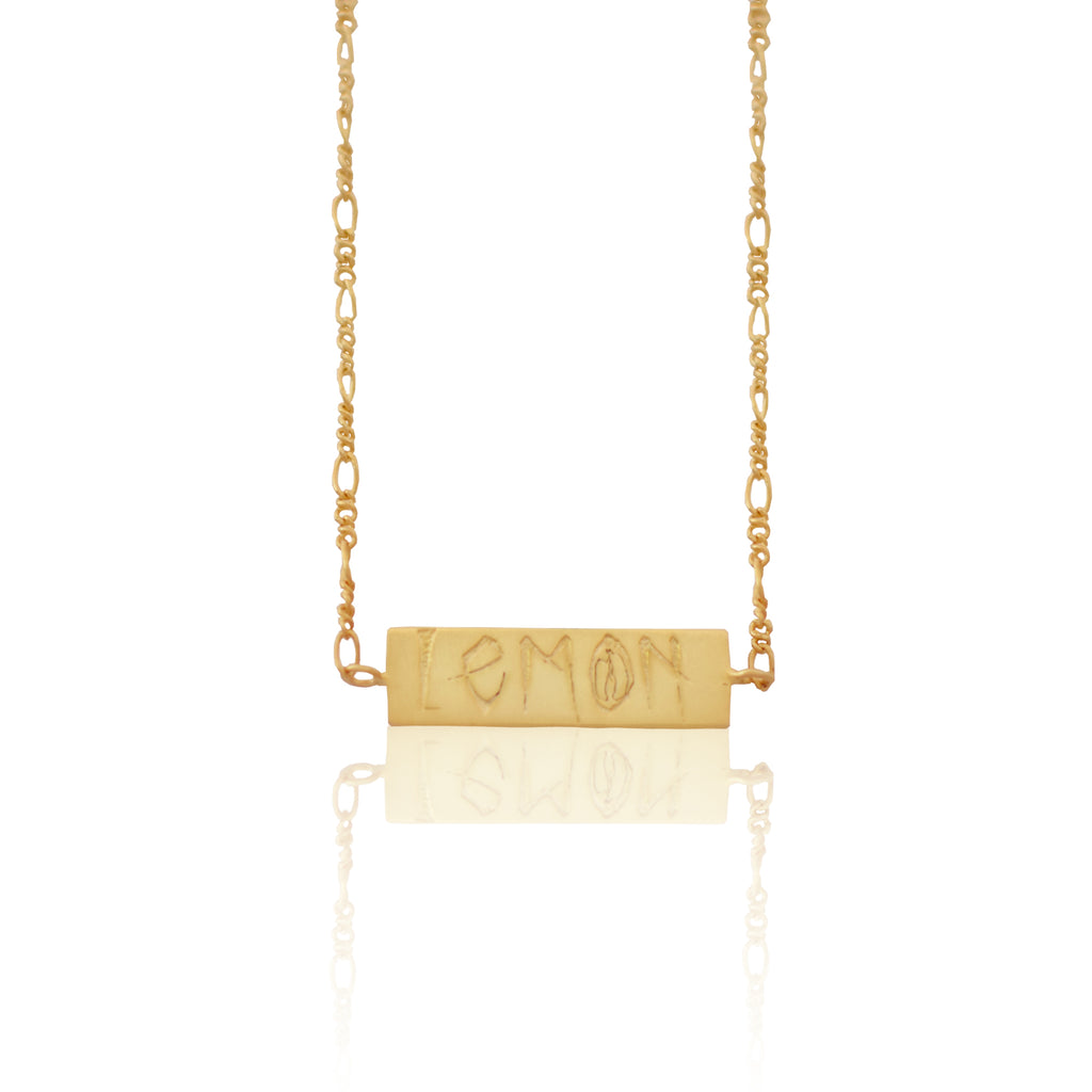The Lemon Tag Necklace GOLD