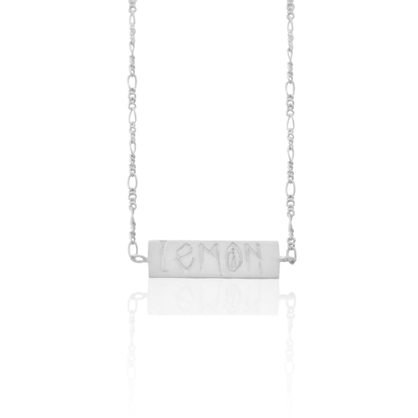 The Lemon Tag Necklace SILVER