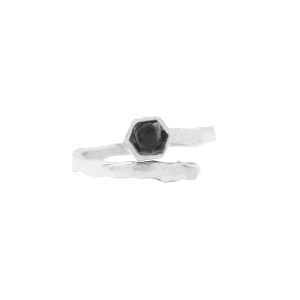 Midnight Bolt Ring Silver