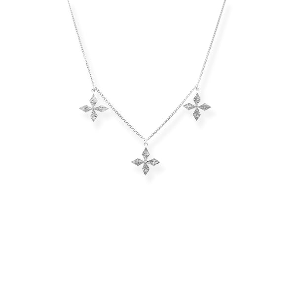 Triple Cross Choker SILVER