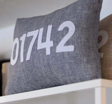 Custom ZIP Code Pillows
