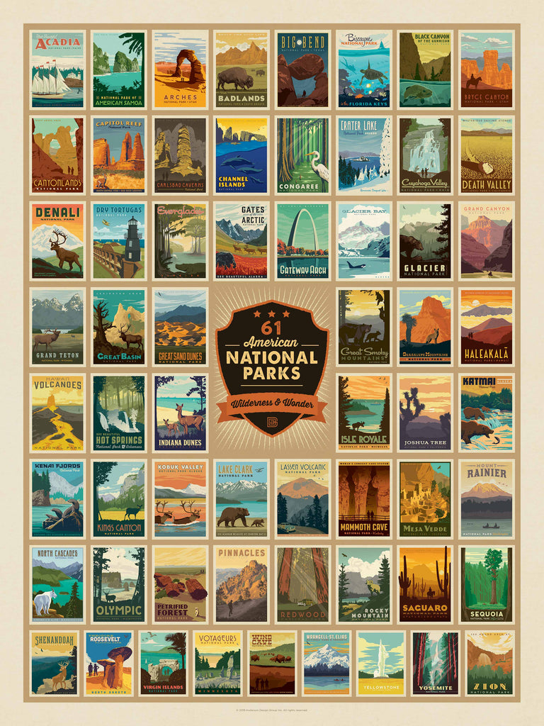 American National Parks (500 pc puzzle)