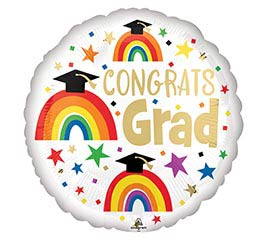 Balloon - Congrats Grad w Rainbows