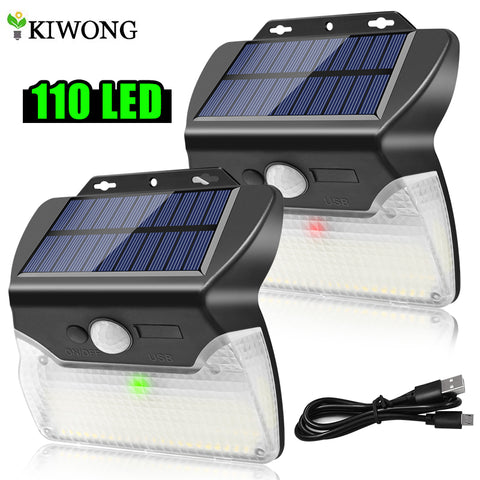 110 LED Solar Powered Motion Sensor Light