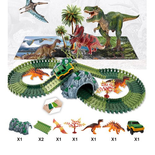 Create-a-Track Dino World Track Play Set
