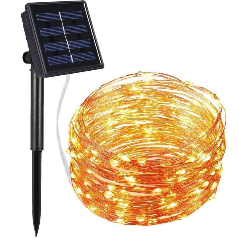 10M Solar Led copper wire Fairy Light