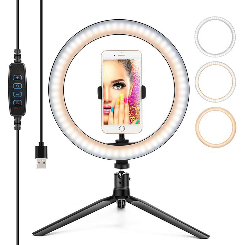10inch LED Desktop Selfie Ring Light