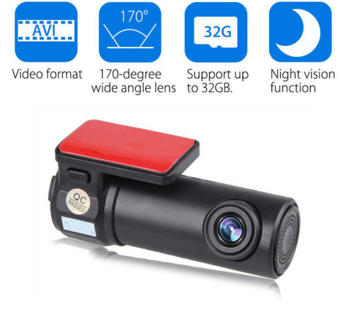 1080P WiFi Mini Car DVR Hidden Camera with G-Sensor More Actions
