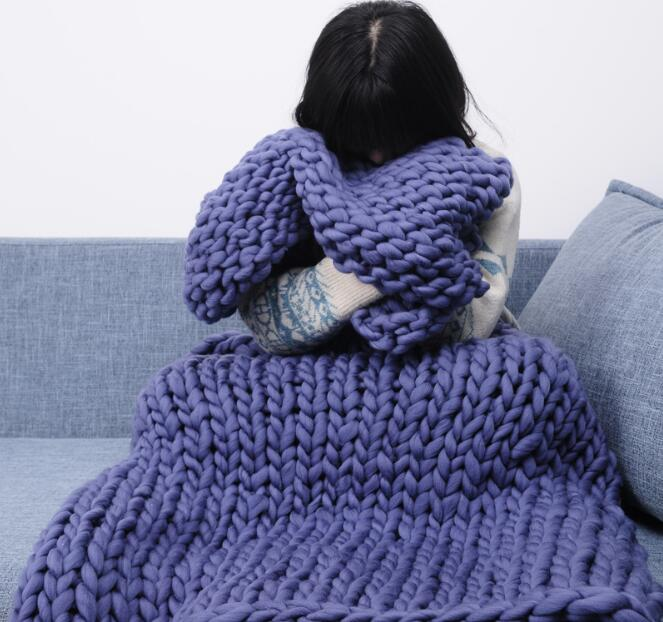 Hand-Knitted Blanket