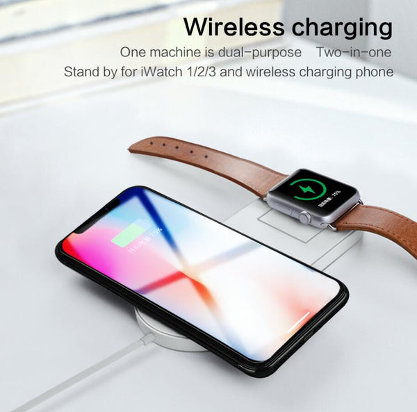 2 in 1 Wireless charger USB Fast Charging Phone Adapter for Apple Watch and Iphone