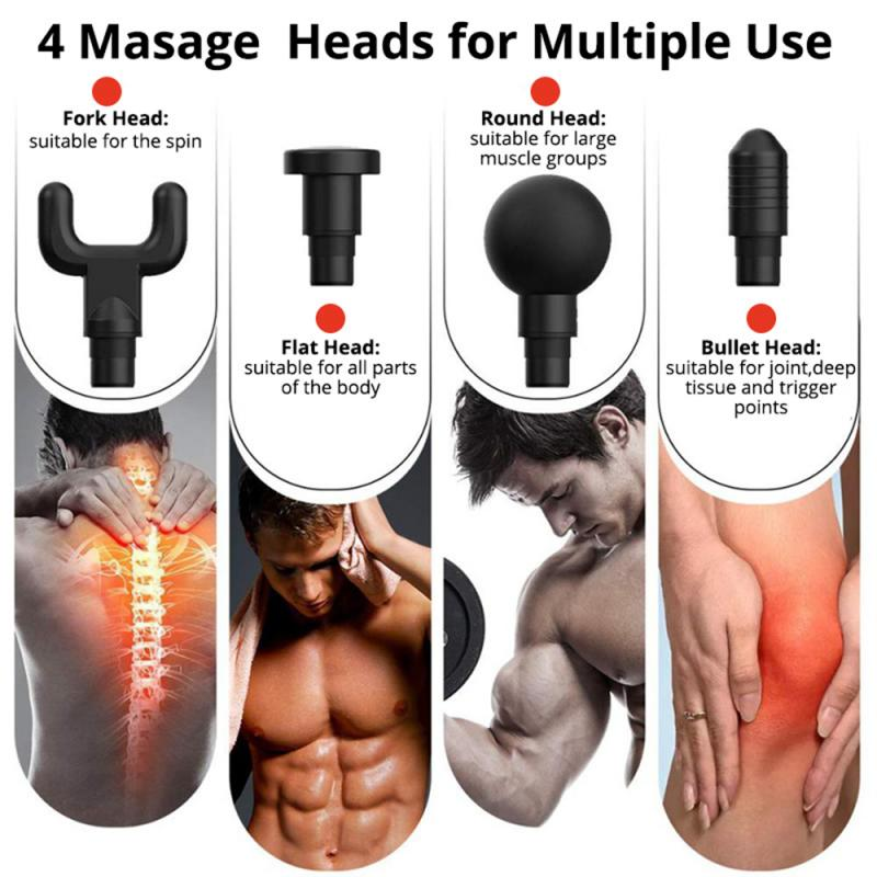 Mini Electric Massage Gun Deep Muscle Fascial Body Massager Gun Tissue Percussion Small Fitness Equipment Acid Relief Pain Relax_15