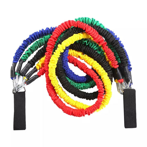 11 PCS Tube Resistance Bands Set 150 LB With Storage Bag