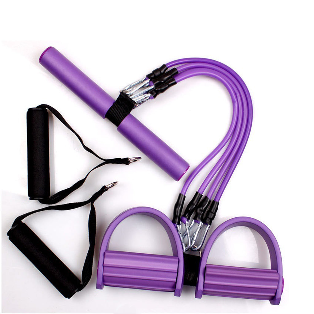 3 in 1 Multifunctional Fitness Gum 4 Tube Resistance Bands