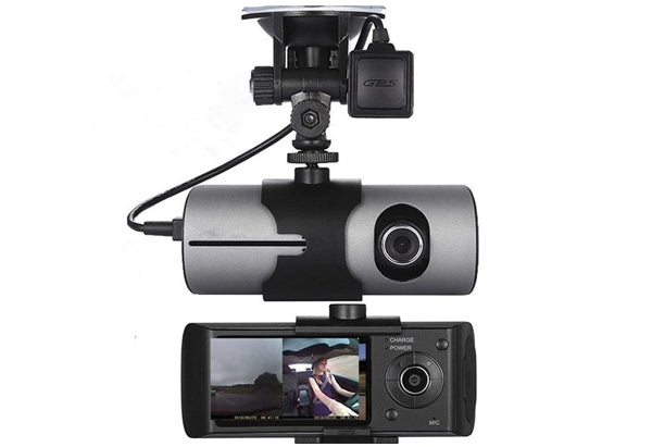 2.7inch Vehicle Car DVR Camera Video Recorder Dash Cam G-Sensor GPS Dual Len Camera
