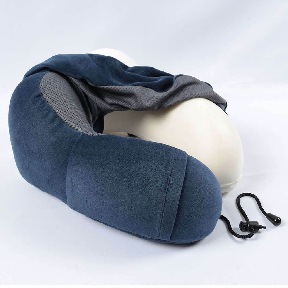 Memory Foam Travel Pillow with 3D Contoured Eye Masks&Earplugs