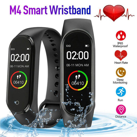 2019 New M4 Color Screen Smart BT Bracelet Watch Fitness Tracker - Groupy Buy