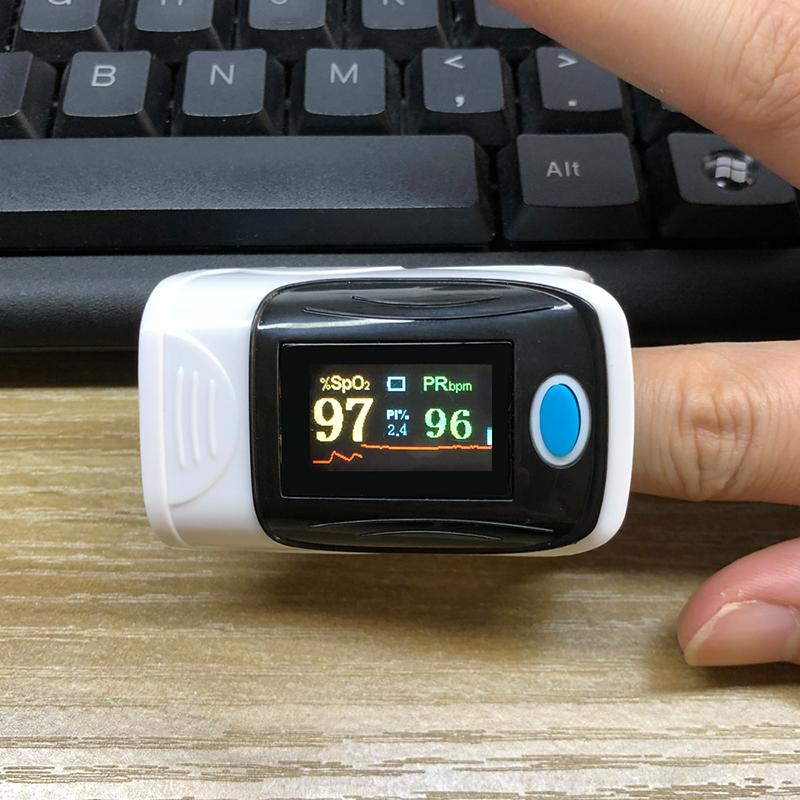 Fingertip Heart Rate Monitor with Pulse Oximeter