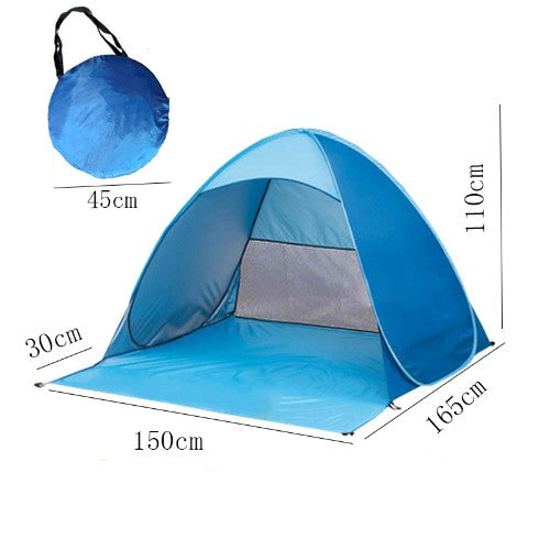 Easy Pop-Up Beach Tent with Metal Ground Stakes