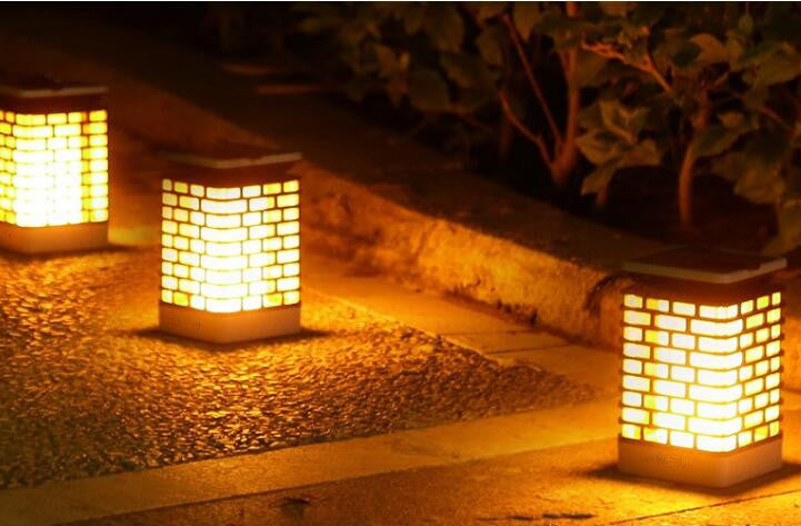 Outdoor Solar Flame Hanging Lantern Lights