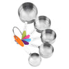 Ten-Piece Stainless Steel Measuring Spoons and Cups Set