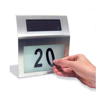 Stainless Steel Solar Powered House Number Light