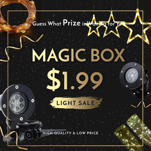Groupybuy Mystery Lighting Deal $1.99 -12 Films Holiday Projector Light,Copper String Light,Ocean Wave Night light,Solar Wall Light, House Number Light..