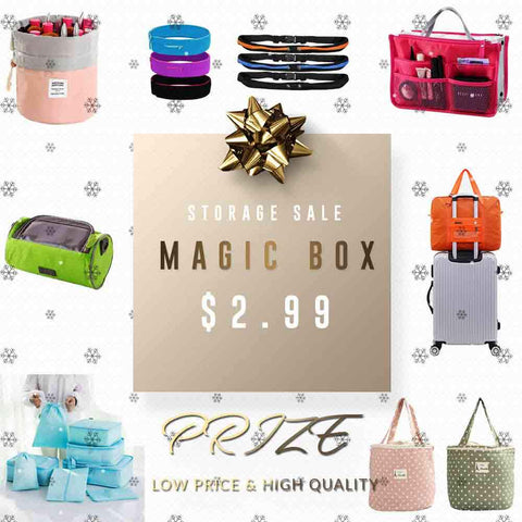 Groupybuy Mystery Organizer Box $2.99 -Make up Organizer Bag,FIFD wallet,Underwear Organizer,Travel Organizer set of 5